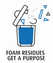 Foam residues get a purpose