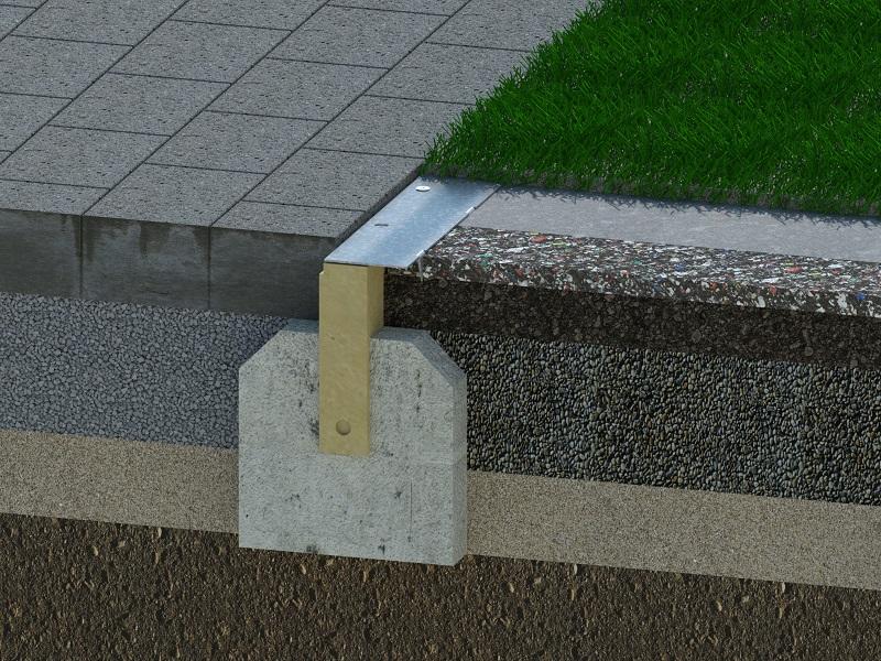 Einbau Randstein Shockpads ohne Klemmschiene-2